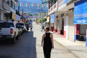 Katie in the town of Tamasopo