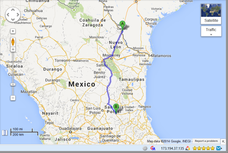 Day 1 (1/25/2014) Laredo border crossing to Lago Del Luna in Rioverde MX, all day drive.