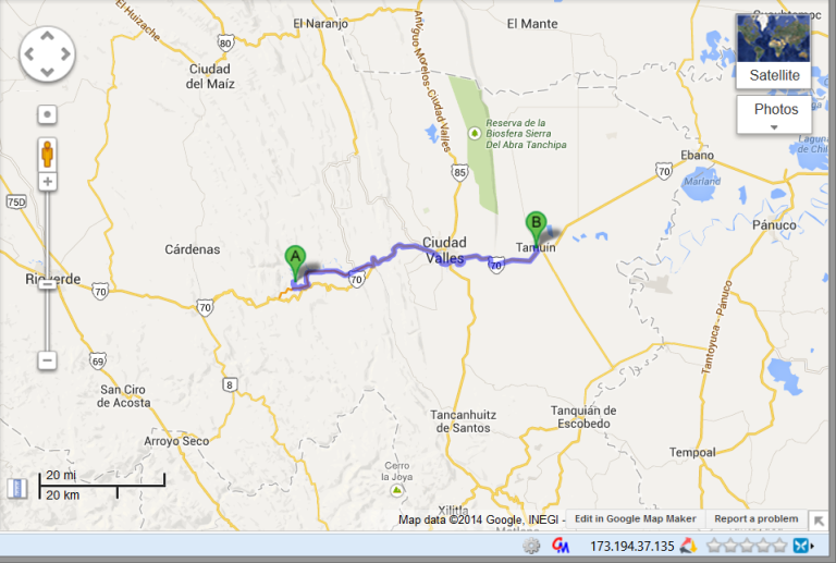 Day 4 - Tamasopa into Cuidad Valles  to Tamuin.  Short drive on a rainy day to a gloomy hotel.