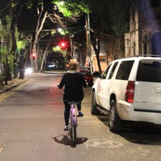 It felt really safe biking at night - like an American city