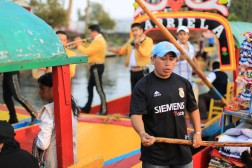 Mariachi on boats in canals near Mexico City