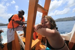 Returning from the snorkel trip