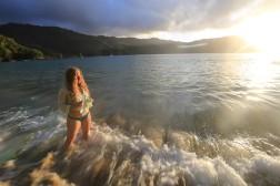 Katie, Waves, Sunset