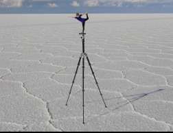 Katie Found Her Balance on a Tripod on the salar