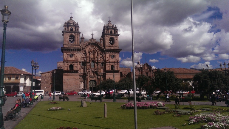 The center square of Cusco  - of course the focus is on the Cathedral