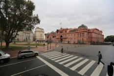 The Casa Rosada - Eva Peron made her famous speeches here