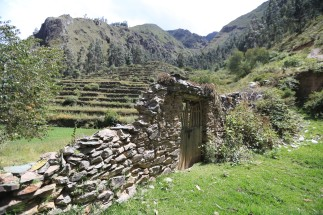 A gate in the hills on the way to Pumamarca, Peru