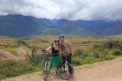Biking in the sacred valley. Yes, I look like a dork.