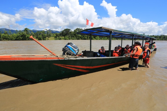 We spent about 40 hours in this boat - maybe even more.   That's the only way anyone can get to this jungle