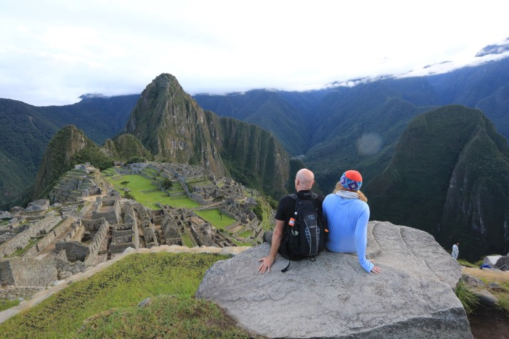 So yes, it looks just like this.  Machu Picchu in the early morning