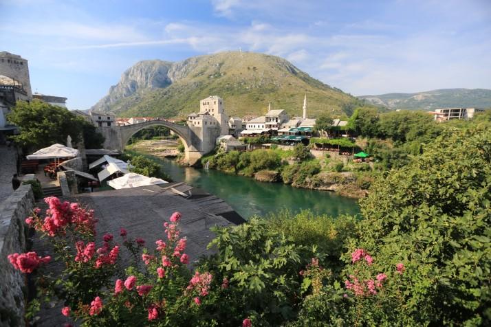 The beautiful old bridge in Mostar
