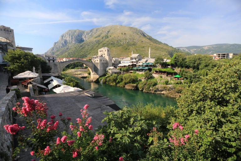 The beautiful old bridge in Mostar