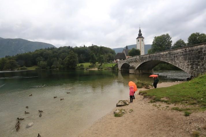 Oh how cute, clear water, bridge, church.  Fake.