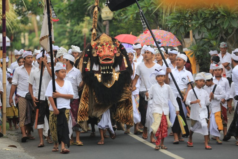 A parade on the Balinese holiday where good triumphs over evil.   Good timing our part to be there!