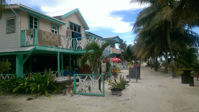 Busy street in Caye Caulker ;)