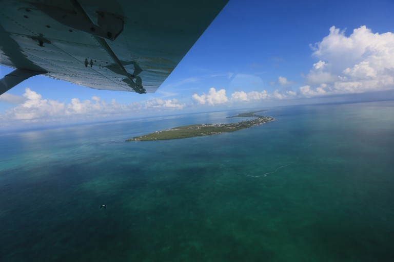 Birds eye view of Caye Caulker
