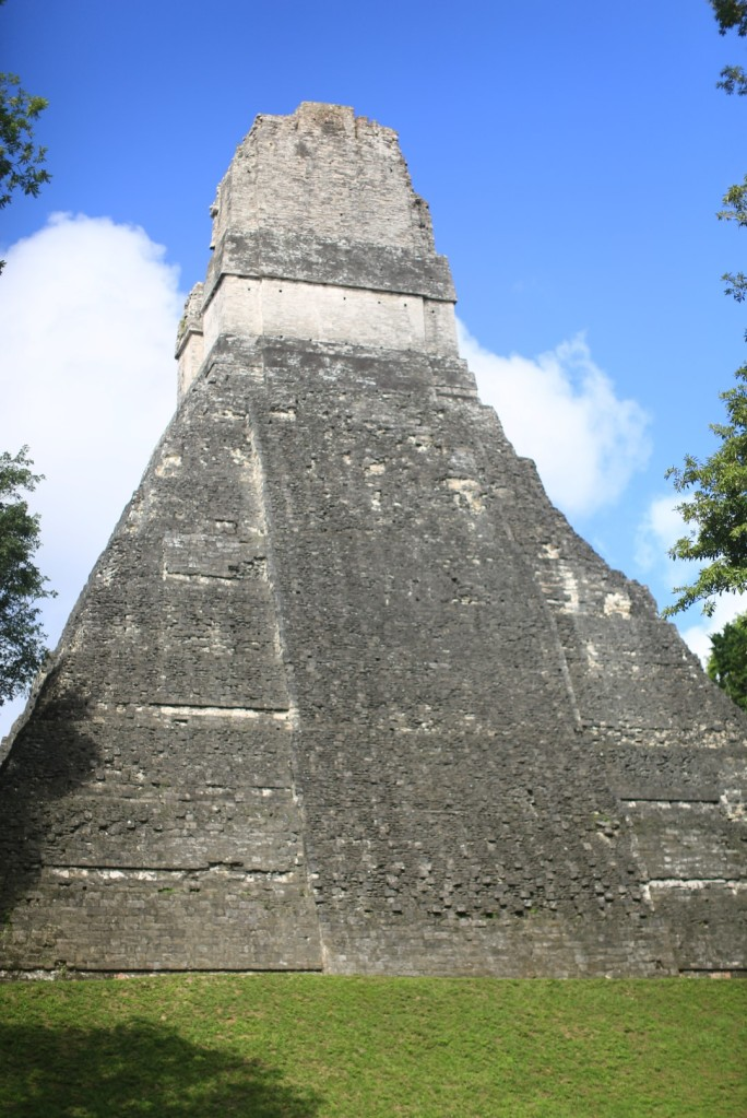 One of the five major temples at Tikal