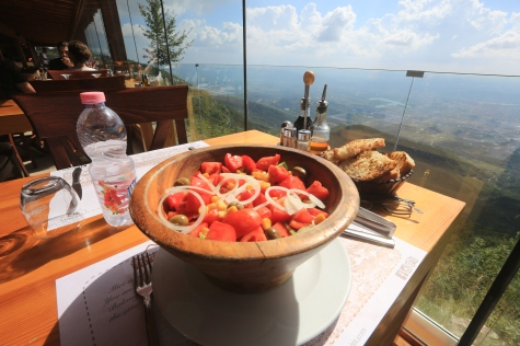 This is what lunch looks like in the mountains near Tirana