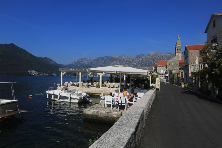 Seaside dining by the Bay of Kotor